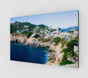 """Cliffs in Acapulco I"" Fine Art Canvas"