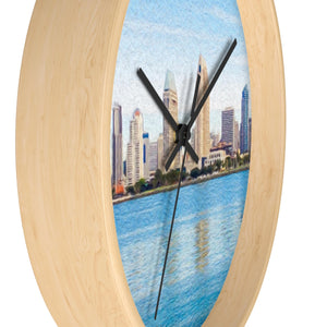 """America's Finest City"" 10"" Fine Art Wall Clock"