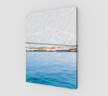 "Load image into Gallery viewer, ""The Pier in San Juan, Puerto Rico"" Fine Art Canvas - Multi-Panel 2 of 3"