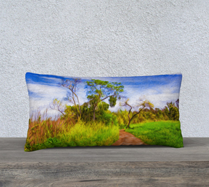 """The Path that Lies Ahead 2"" 24""x12"" Fine Art Pillow Case"