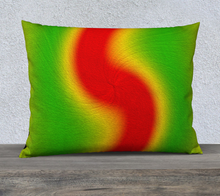 "Load image into Gallery viewer, ""Rasta Vibes 4"" - LB 26""x20"" Fine Art Pillow Case"
