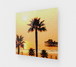 """At the Beach in Oceanside, California"" Fine Art Acrylic Print"