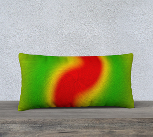 """Rasta Vibes 1"" - LT 24""x12"" Fine Art Pillow Case"
