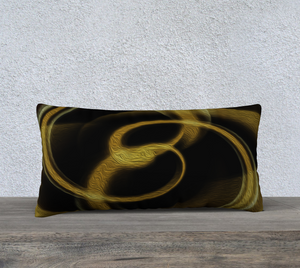 """Dimensional Paradox 3"" 24""x12"" Fine Art Pillowcase"