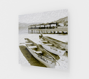 """At the Pier in Acapulco, Mexico"" Fine Art Acrylic Print"