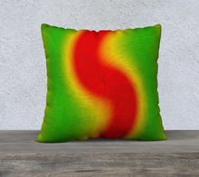 "Load image into Gallery viewer, ""Rasta Vibes 4"" - LB 22""x22"" Fine Art Pillow Case"