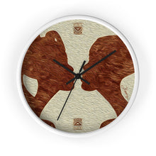"Load image into Gallery viewer, ""African Couple Profile 1"" 10"" Fine Art Wall Clock"
