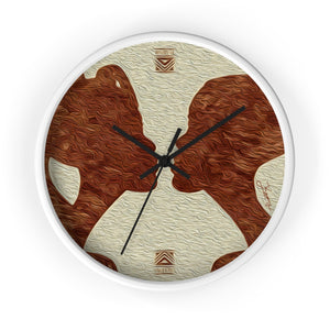 """African Couple Profile 1"" 10"" Fine Art Wall Clock"