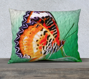 """Malay Lacewing Butterfly 2"" 26""x20"" Fine Art Pillow Case"