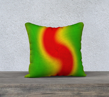 "Load image into Gallery viewer, ""Rasta Vibes 4"" - LB 18""x18"" Fine Art Pillow Case"