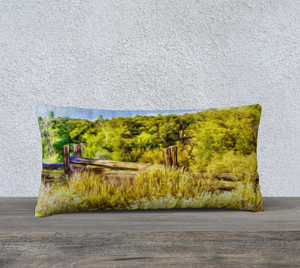 """A Place of Serenity I"" 24""x12"" Fine Art Pillow Case"
