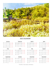 "Load image into Gallery viewer, ""A Place of Serenity 1"" 17x22 inch 2021 Fine Art Calendar"