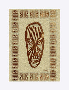"""African Mask  - Rendition 2"" Matted Fine Art Print"