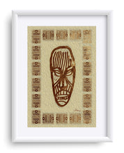 "Load image into Gallery viewer, ""African Mask  - Rendition 2"" Matted Fine Art Print"