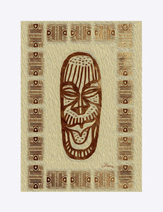 """African Mask  - Rendition 5"" Matted Fine Art Print"