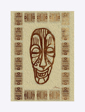 "Load image into Gallery viewer, ""African Mask  - Rendition 6"" Matted Fine Art Print"