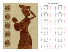 "Load image into Gallery viewer, ""African Maternal Grace 2"" 17x22 inch 2021 Fine Art Calendar"