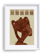 "Load image into Gallery viewer, ""African Woman Profile"" Matted Fine Art Print"