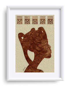 """African Woman Profile"" Matted Fine Art Print"