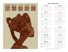 "Load image into Gallery viewer, ""African Woman Profile"" 17x22 inch 2021 Fine Art Calendar"