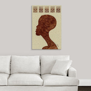 """African Man Profile"" Fine Art Metal Print"