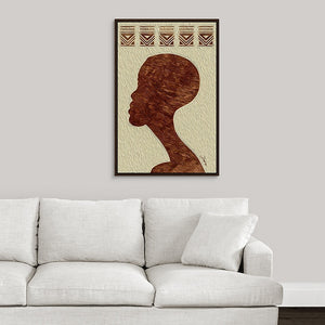 """African Man Profile"" Fine Art Canvas"