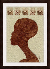 "Load image into Gallery viewer, ""African Man Profile"" Framed Fine Art Expression"