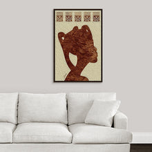 "Load image into Gallery viewer, ""African Woman Profile"" Fine Art Canvas"