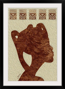 """African Woman Profile"" Framed Fine Art Expression"