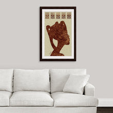 "Load image into Gallery viewer, ""African Woman Profile"" Framed Fine Art Expression"
