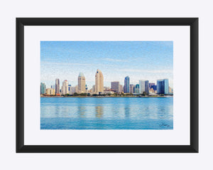 """America's Finest City"" Matted Fine Art Print"