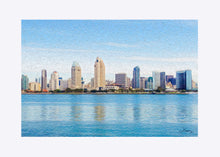 "Load image into Gallery viewer, ""America's Finest City"" Matted Fine Art Print"