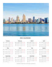 "Load image into Gallery viewer, ""America's Finest City"" 17x22 inch 2021 Fine Art Calendar"