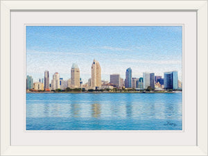 """America's Finest City"" Framed Fine Art Expression"