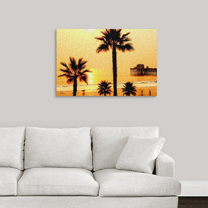 """At the Beach in Oceanside, California"" Fine Art Metal Print"