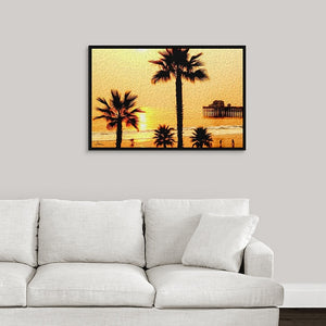 """At the Beach in Oceanside, California"" Fine Art Canvas"