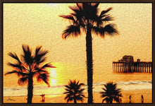 "Load image into Gallery viewer, ""At the Beach in Oceanside, California"" Fine Art Canvas"