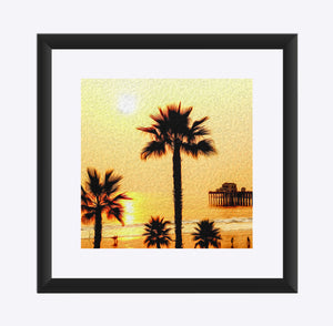 """At the Beach in Oceanside, California"" Matted Fine Art Print"