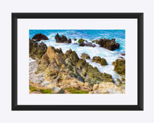 "Load image into Gallery viewer, ""Beach Rocks in Puerto Vallara, Mexico"" Matted Fine Art Print"