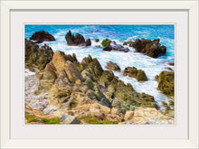"Load image into Gallery viewer, ""Beach Rocks in Puerto Vallarta, Mexico"" Framed Fine Art Expression"