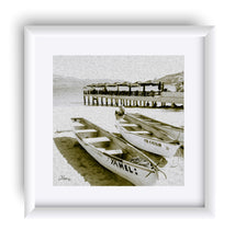 "Load image into Gallery viewer, ""Boats at the Beach in Acapulco, Mexico"" Matted Fine Art Print"