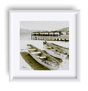 """Boats at the Beach in Acapulco, Mexico"" Matted Fine Art Print"