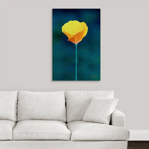"""California Poppy 1"" Fine Art Acrylic"