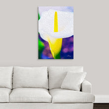 "Load image into Gallery viewer, ""Calla Lily Blossom"" Fine Art Metal Print"