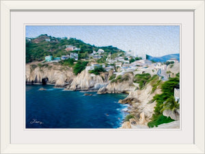 """Cliffs in Acapulco 1"" Framed Fine Art Expression"