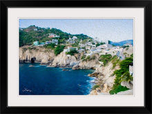 "Load image into Gallery viewer, ""Cliffs in Acapulco 1"" Framed Fine Art Expression"