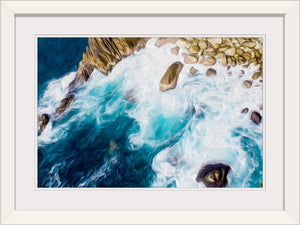 """Cliffs in Acapulco 2"" Framed Fine Art Expression"