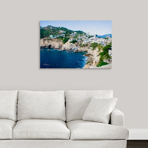 """Cliffs in Acapulco 1"" Fine Art Acrylic"