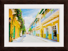 "Load image into Gallery viewer, ""Colonial Street - Cartagena de Indias, Colombia"" Framed Fine Art Expression"