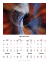 "Load image into Gallery viewer, ""Color Dissonance 1"" 17x22 inch 2021 Fine Art Calendar"
